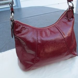 Coach Bags - COACH SOHO Buckle Flap Patent Leather Hobo Purse